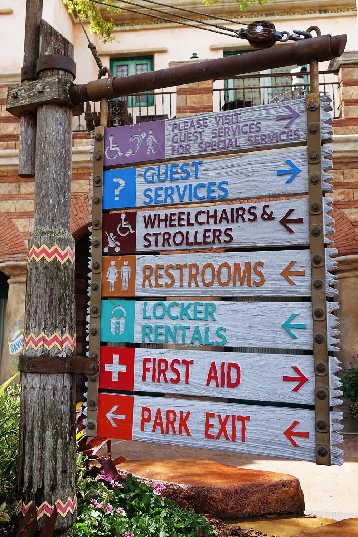 Stroller at Universal Orlando - Signage