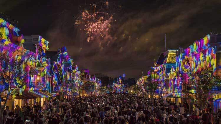 Best Viewing Places of Disneyland Fireworks - Together Forever on Main Street USA