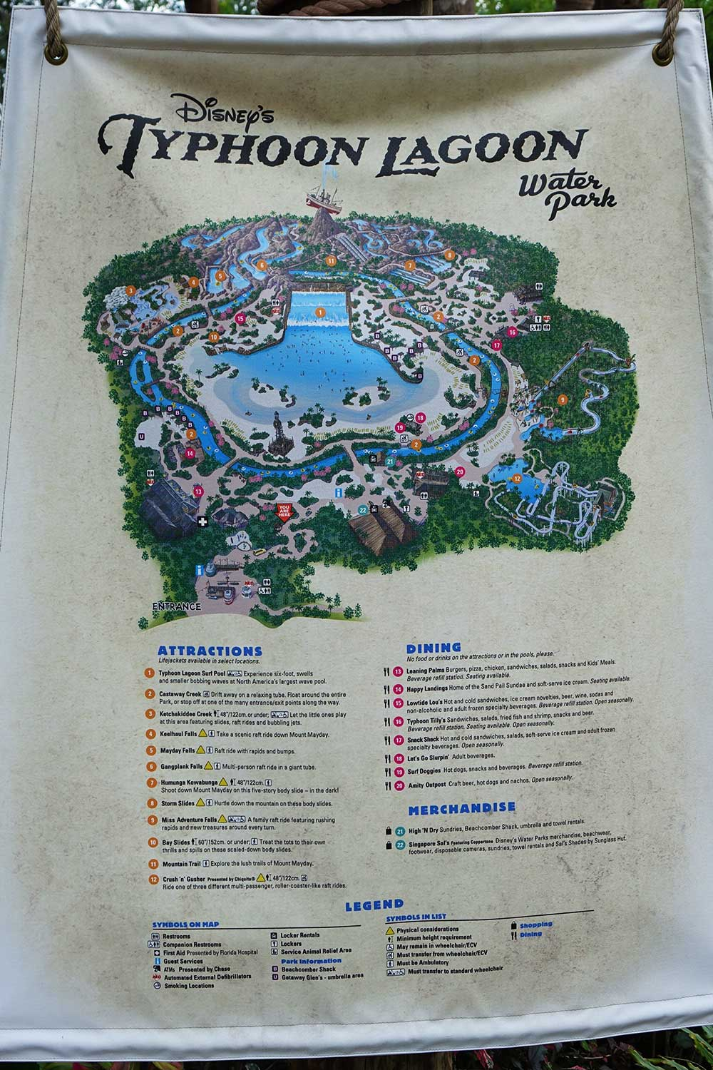 Disney's Typhoon Lagoon Water Park - Map