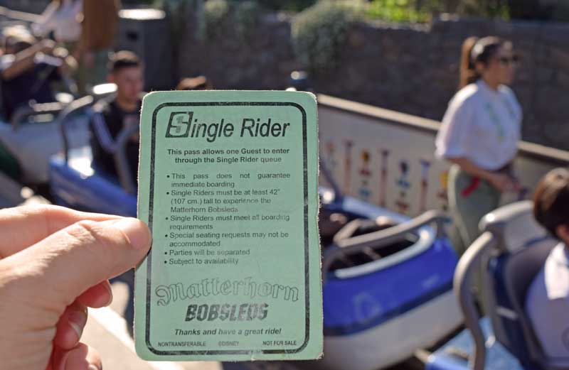 Disneyland Single Rider Line - Disneyland FASTPASS - Save Time at Theme Parks - Matterhorn Bobsleds