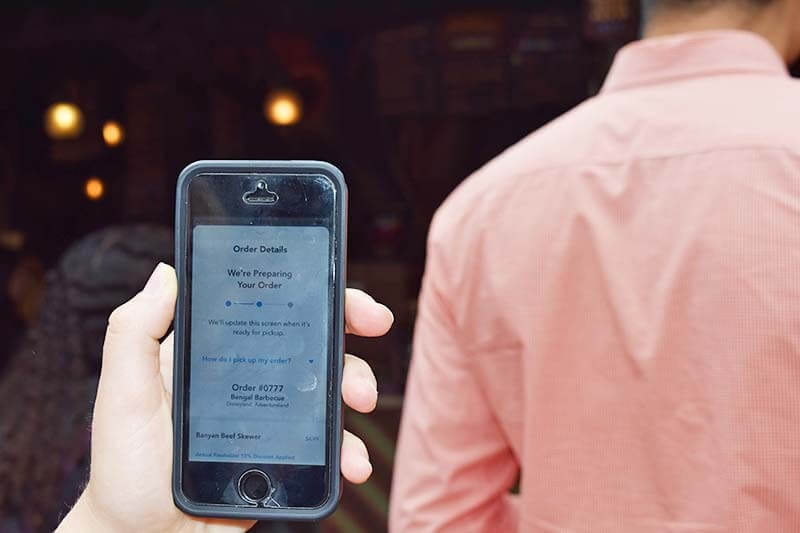 Getting the Scoop on Disneyland Mobile Ordering Service - Mobile Ordering Screen
