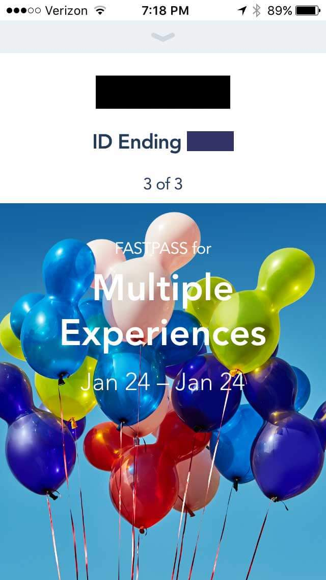 Disney Maxpass Multiple Experiences