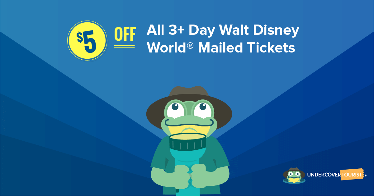 Flash Sale! $5 Off All Physical 3+ Day Disney World Tickets!