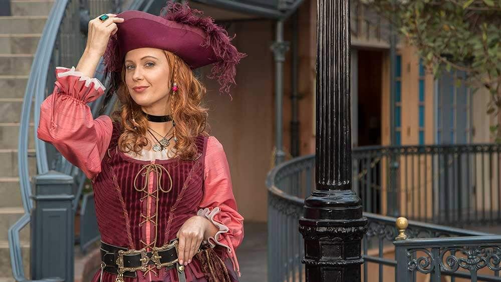 Redd the Pirate in New Orleans Square in Disneyland