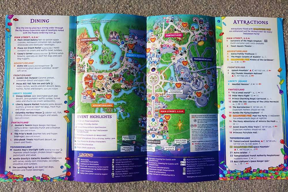 Mickey's Not So Scary Halloween Party 2018 - Map Inside