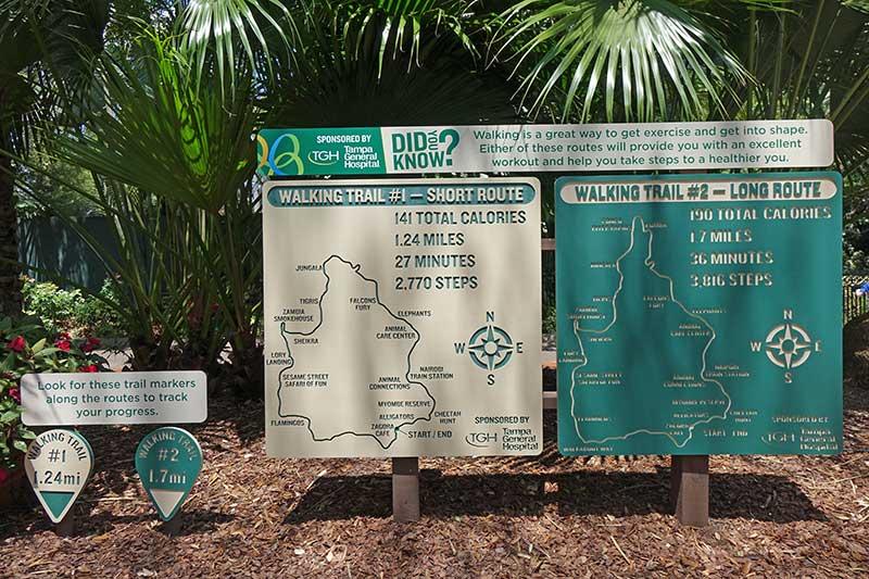 Busch Gardens Tampa - Walking Trails