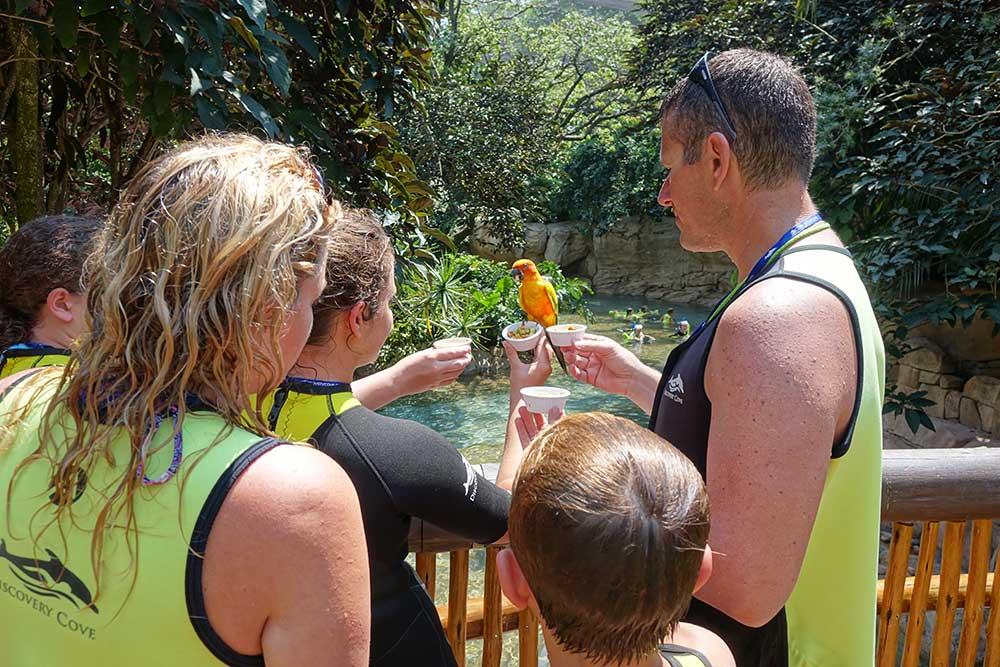 Discovery Cove Orlando - Family in Aviary