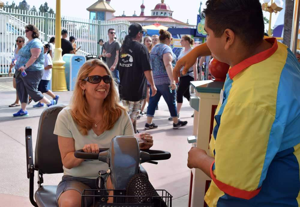 Guide to Using a Wheelchair or ECV at Disneyland