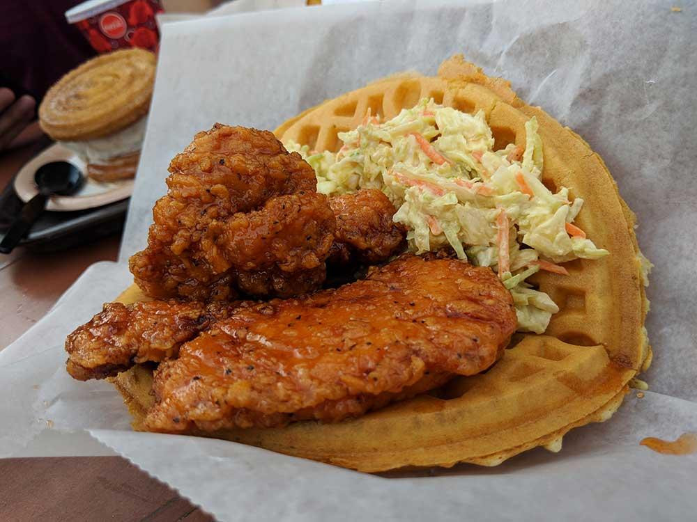 Magic Kingdom Quick Service Restaurants - Chicken Waffle Sandwich