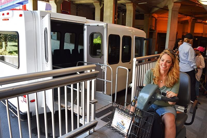 Using a Wheelchair at Universal Studios Hollywood - Lower Lot Shuttle