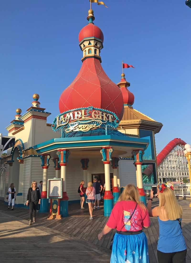 Eating at Pixar Pier - Lamplight Lounge