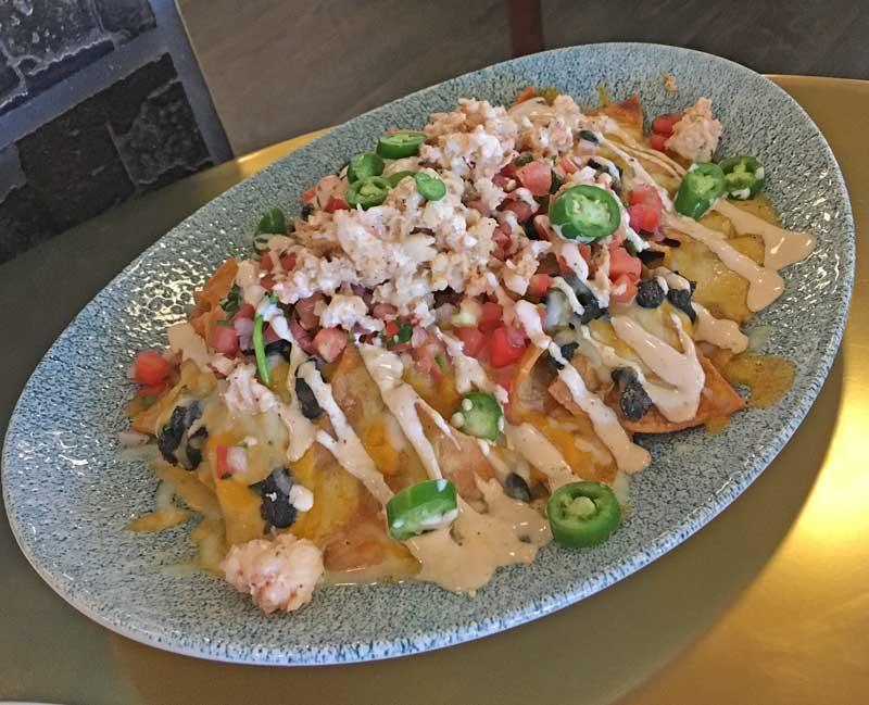 Eating at Pixar Pier - Lamplight Lounge - Lobster Nachos