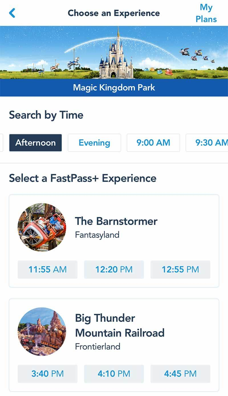 FastPass+ FAQs - Modifying a Reservation