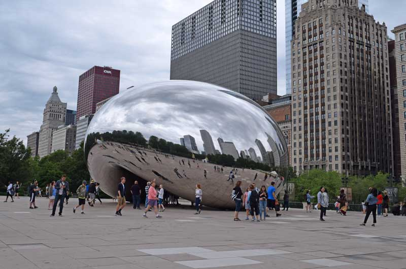 Chicago Lakefront Trail Bike Ride - Millennium Park