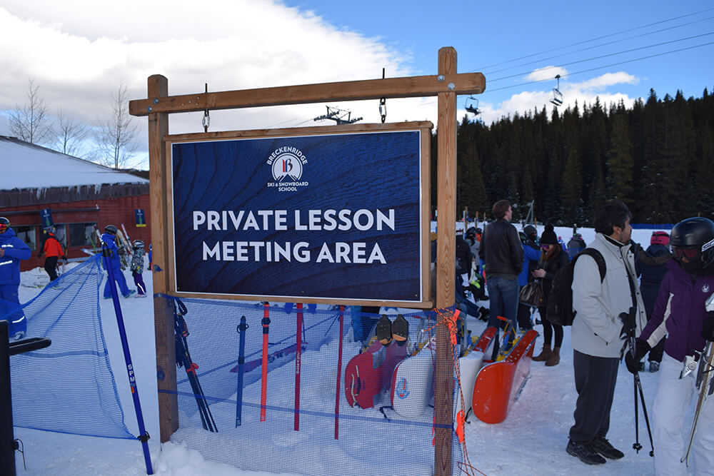 private or group lessons for skiing or snowboarding