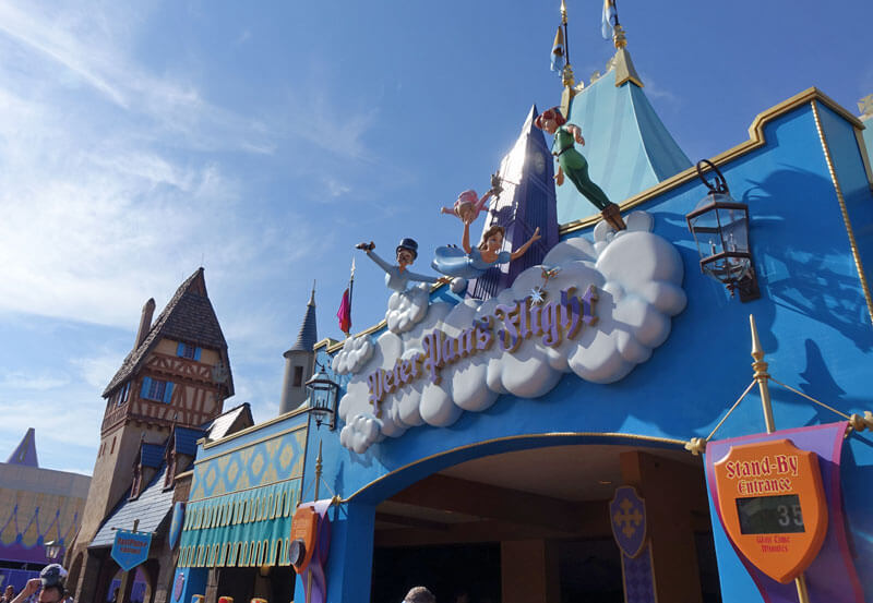 Magic Kingdom FastPass+ Rides and Entertainment - Peter Pan's Flight