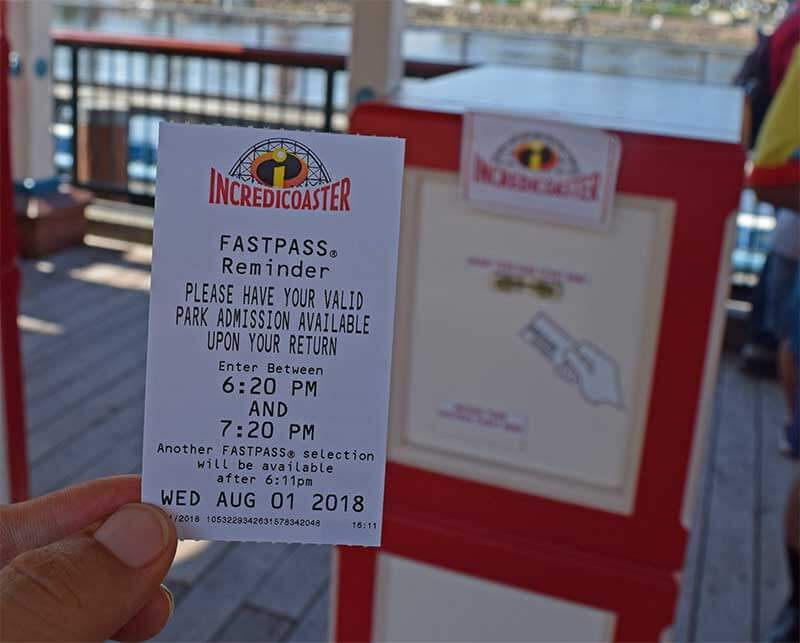 Incredicoaster Distribution - Disneyland FASTPASS