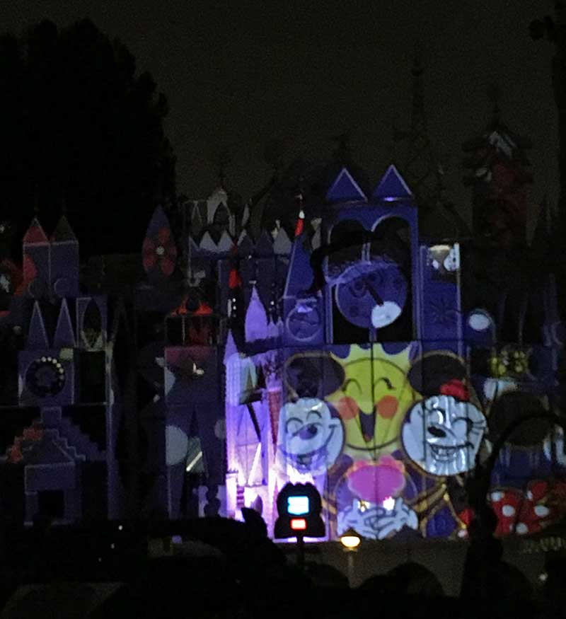 Best Places to View Disneyland Fireworks - Mickey and Minnie at its a small world