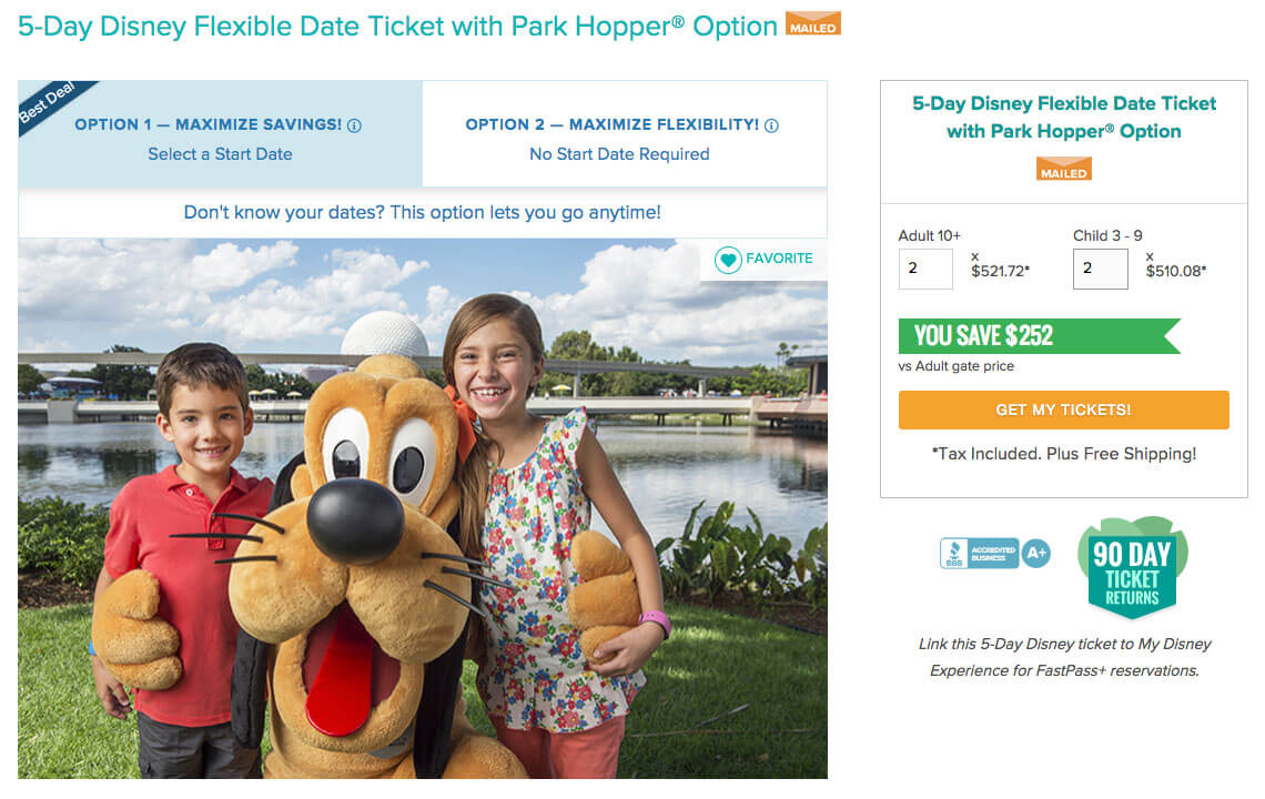 Disney Flexible Start-Date Ticket on Undercover Tourist