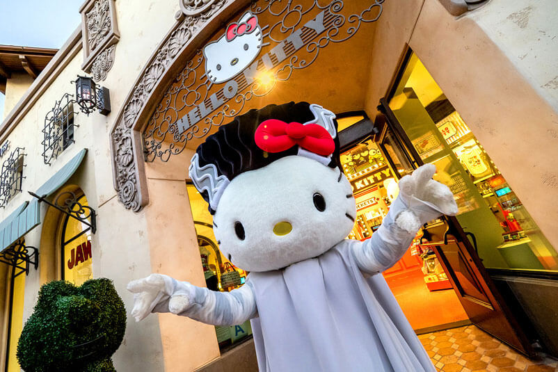 Kid-Friendly Halloween Party at Universal Studios Hollywood - Hello Kitty as the Bride of Frankenstein