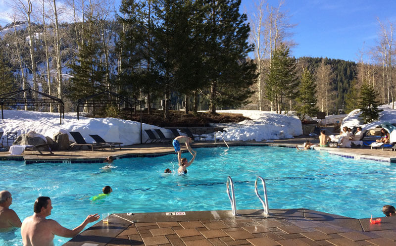 Hotel Safety for Kids - Ski Resort Hotel Pool