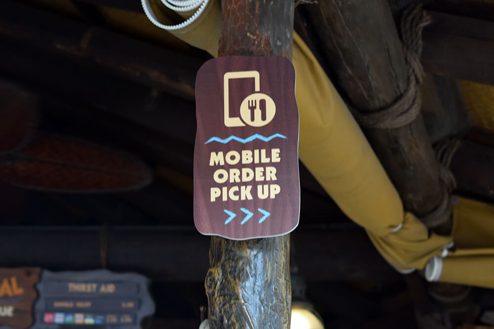 Disney World Mobile Ordering - Mobile Pickup Sign