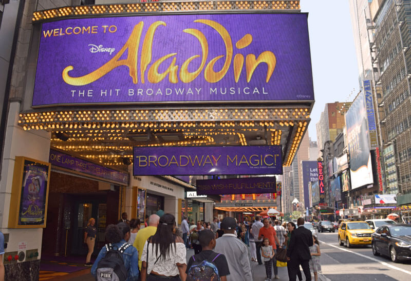 New York's Times Square - Aladdin Broadway