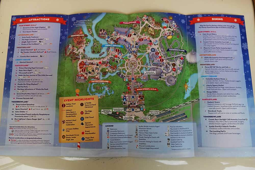 Mickey's Very Merry Christmas Party 2019 - Brochure Map Inside