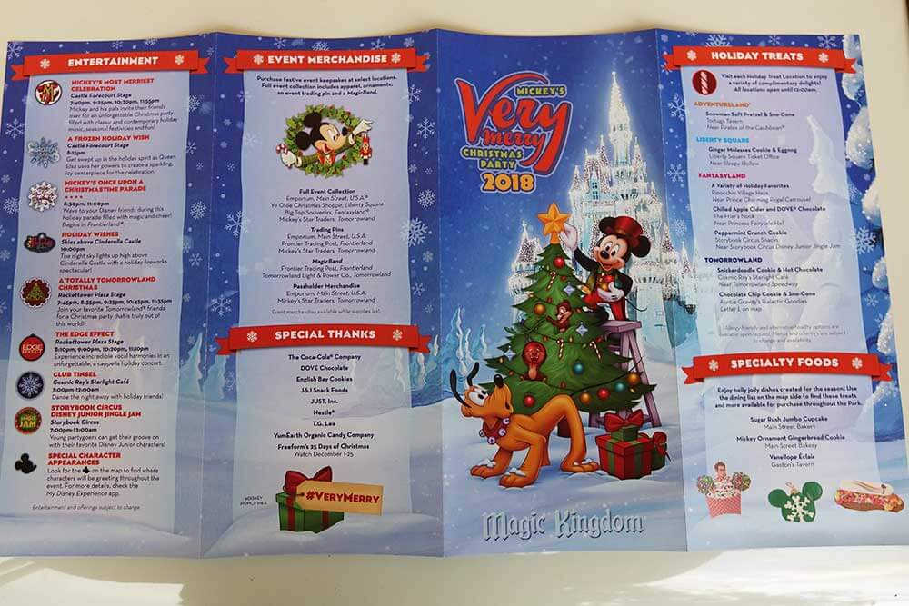 Mickey's Very Merry Christmas Party 2019 - Brochure Map Outside