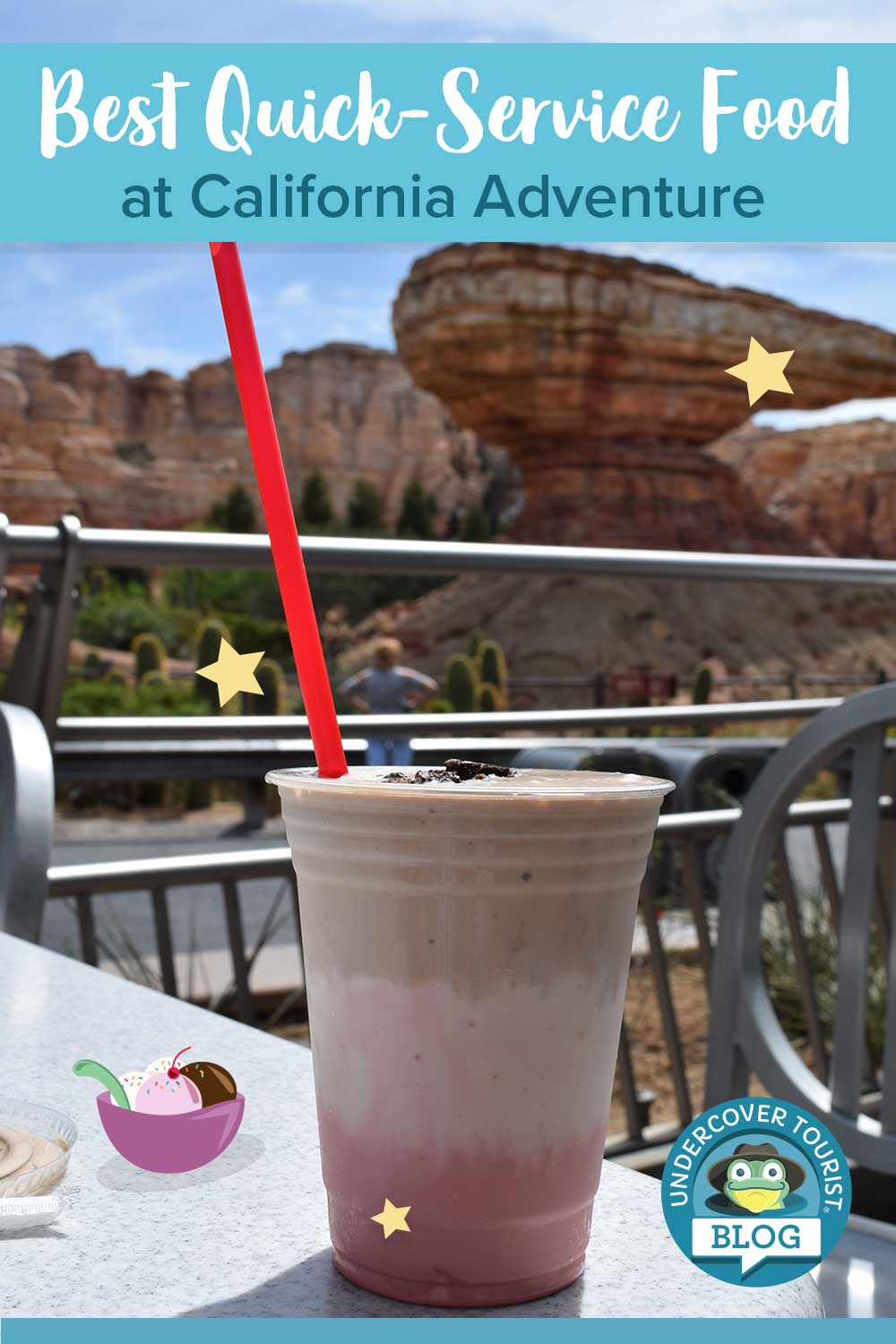 Disney California Adventure Quick-Service - Cars Milkshake