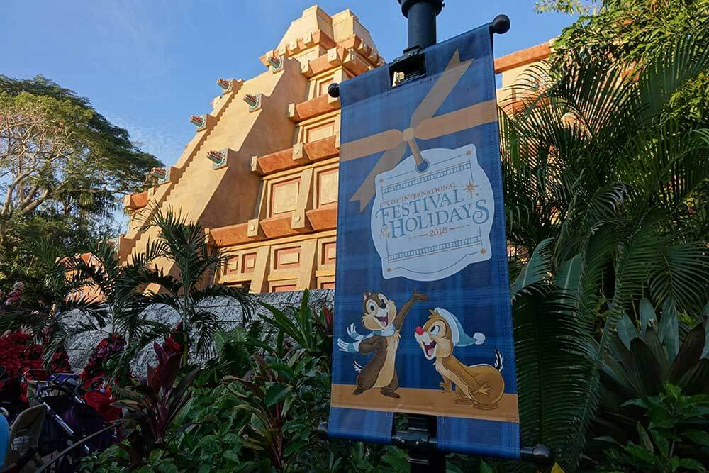 Epcot International Festival of the Holidays - Mexico Signage