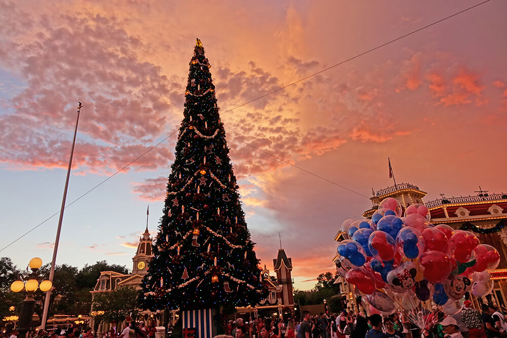 disney world holiday events magic kingdom tree