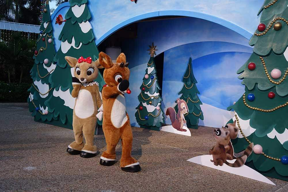SeaWorld's Christmas Celebration - Rudolph and Clarice