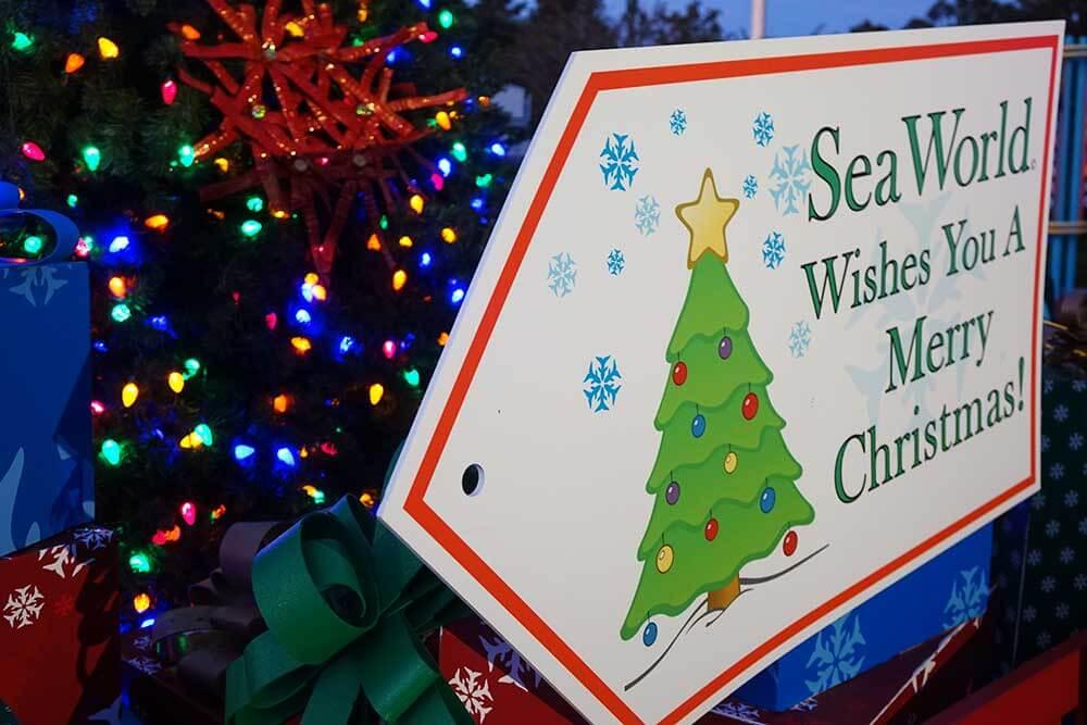SeaWorld's Christmas Celebration - Sign