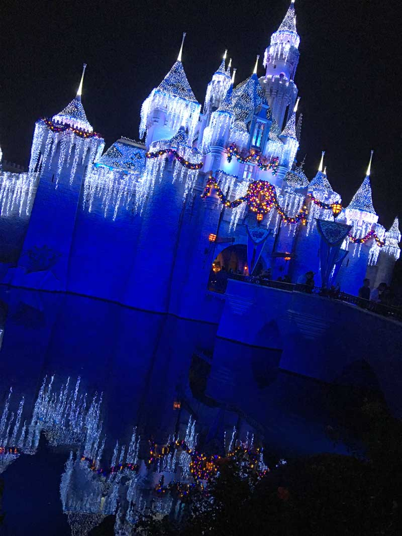 Sleeping Beauty Castle Holiday Lights - Holidays at Disneyland 2018
