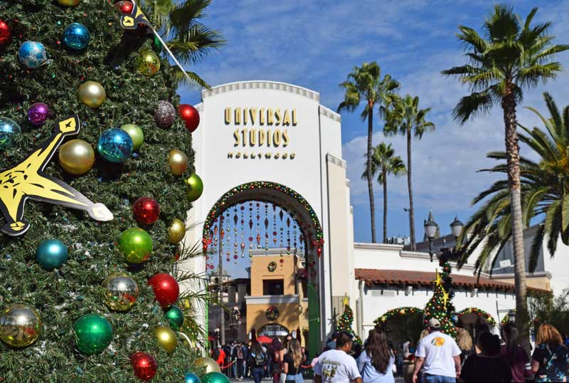 Holidays at Universal Studios Hollywood - Christmas Tree at Entrance