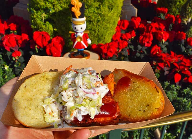 Our Guide to the Yummiest Holiday Treats and Foods at Disneyland - Fried Turkey Slider