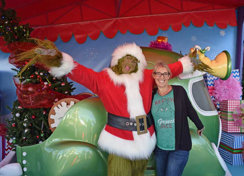 Grinch at Grinchmas 2018 at Universal Studios Hollywood
