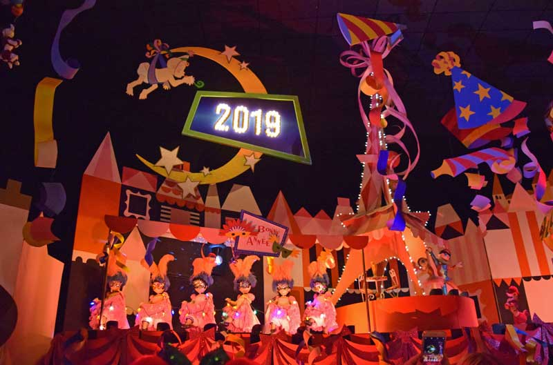 new years eve at disneyland its a small world new year sign