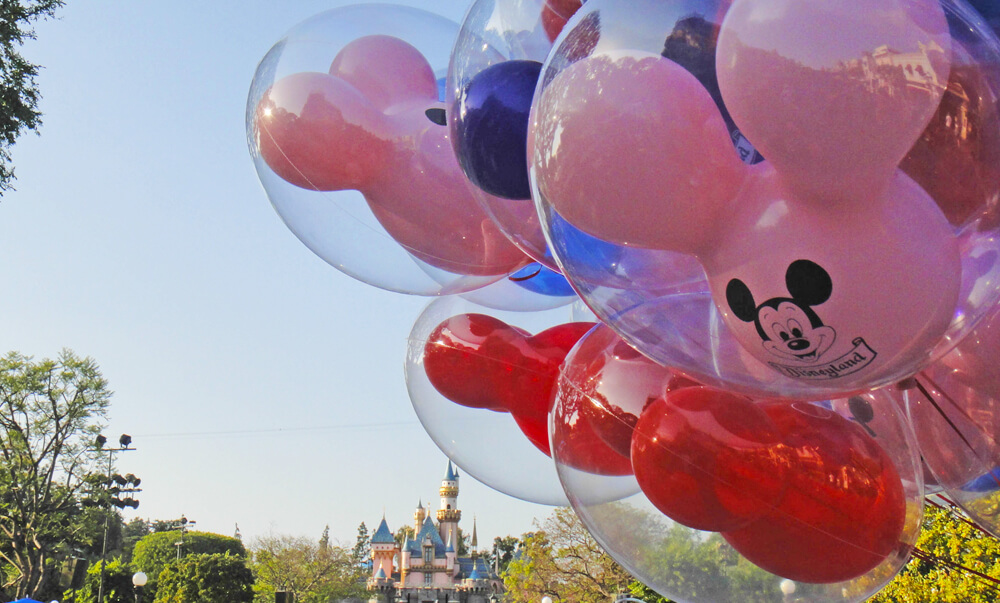 Free Things to Do at Disneyland - Balloons Over Sleeping Beauty Castle