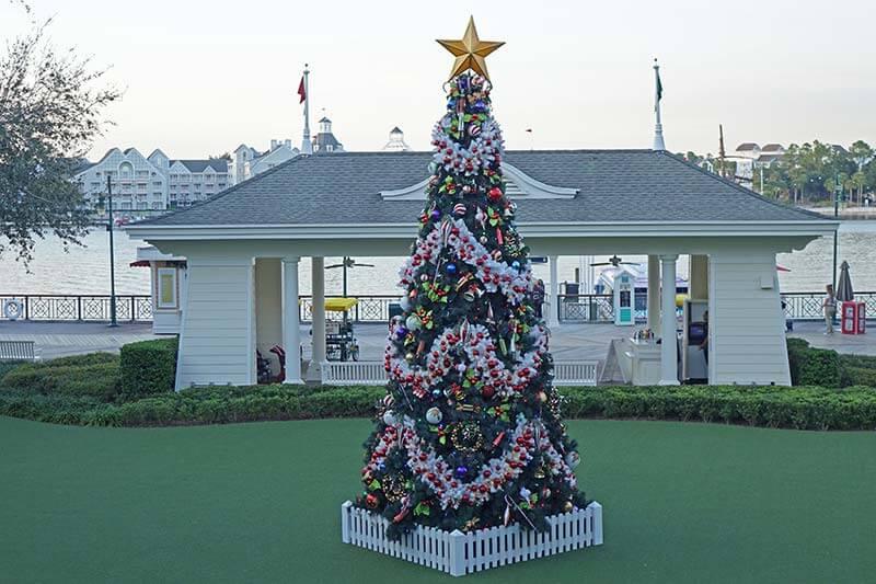 Disney World Resort Christmas Decorations - Boardwalk Inn Tree