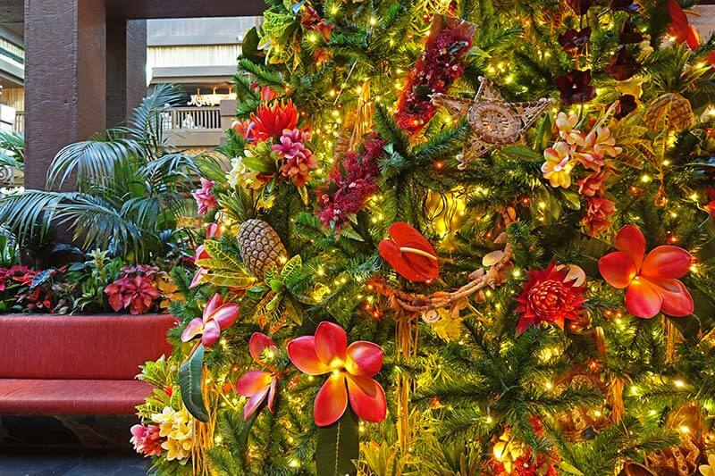 Disney World Resort Christmas Decorations - Polynesian Resort Tree