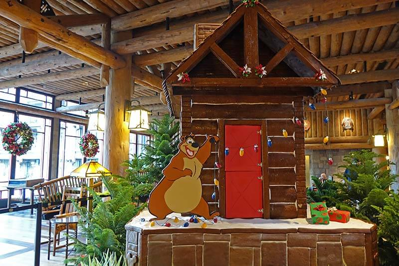 Disney World Christmas Events - Wilderness Lodge Gingerbread Cabin