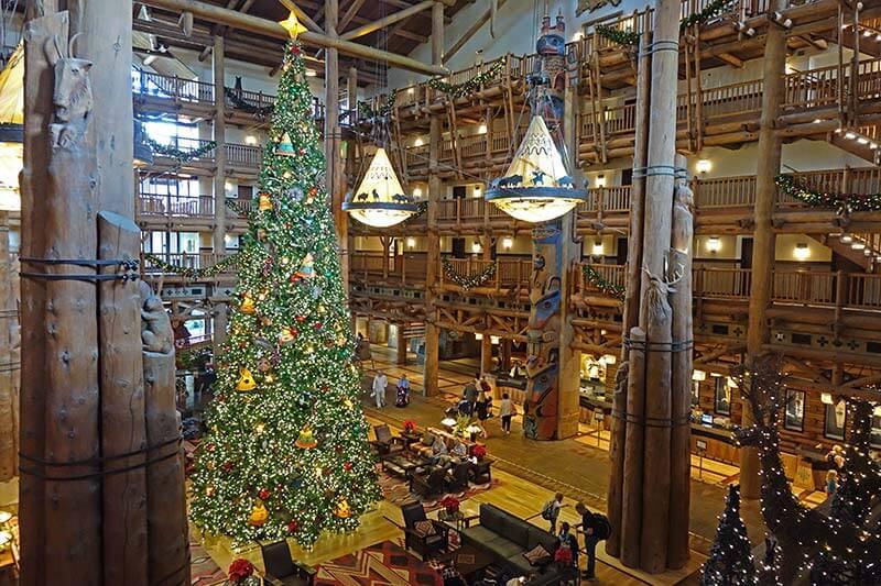Disney World Resort Christmas Decorations - Wilderness Lodge Tree