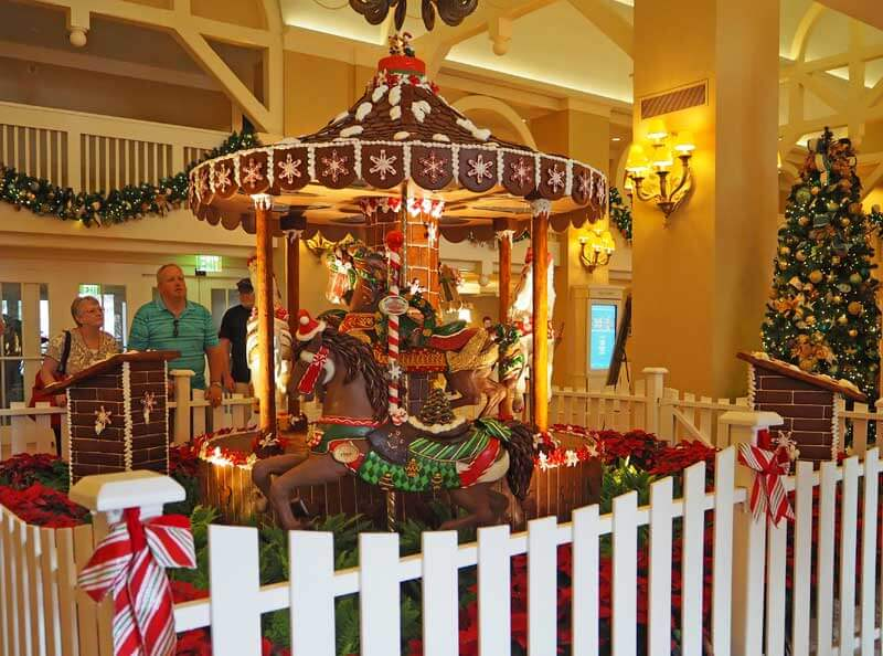 Disney World Resort Christmas Decorations - Beach Club Carousel