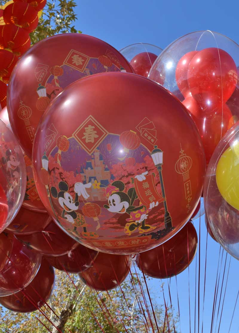 Disneyland Special Events in 2019 and 2020 - Lunar New Year Balloons