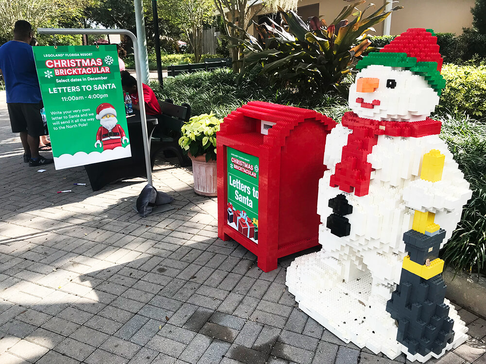 LEGOLAND Florida Christmas Bricktacular - Letters to Santa