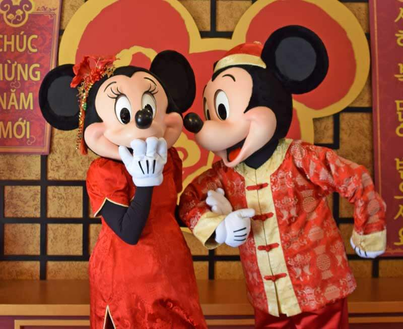 Mickey and Minnie at Lunar New Year - Disneyland Special Events in 2019 and 2020