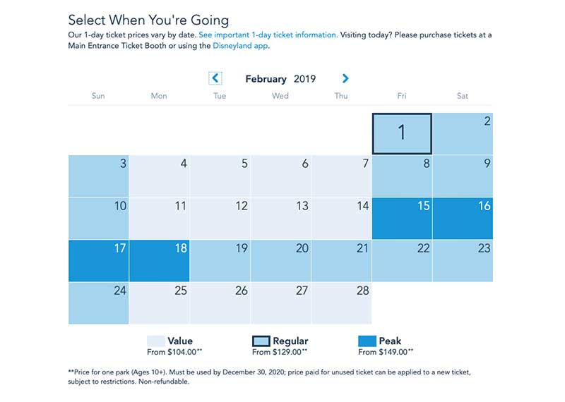 February 2020 Calendar Disneyland Hours The Best Time to Visit Disneyland in 2019 and 2020