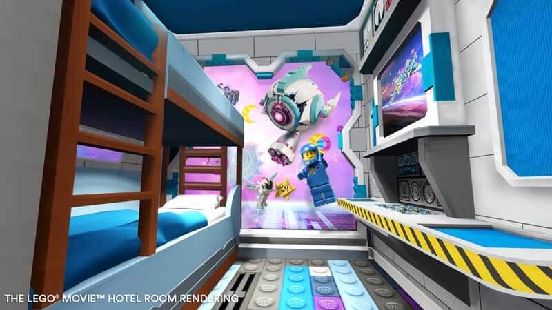 LEGO WORLD Bedroom Rendering